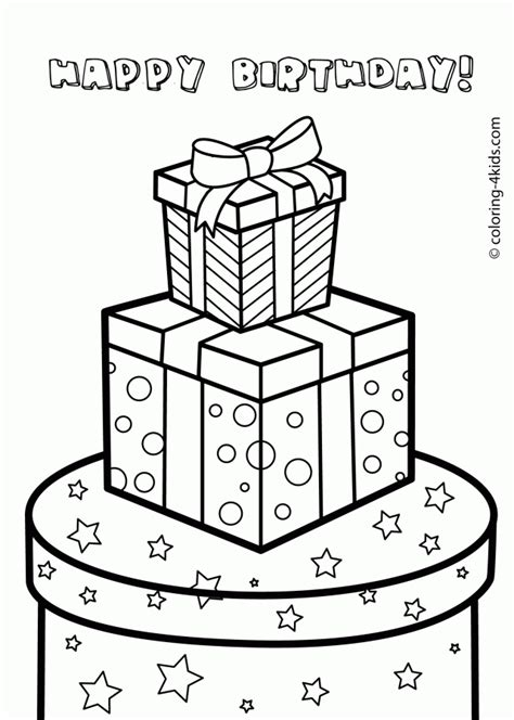 coloring pages birthday presents happy birthday jesus coloring page az coloring pages