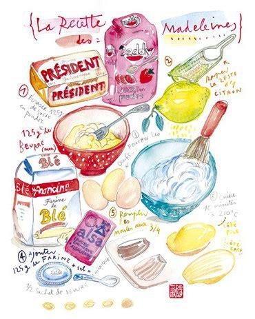 cuisine b駭inoise la recette des madeleines illustration aquarelle d 233 coration