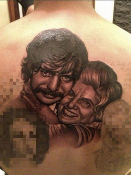 drake tattoo s grandmother family portrait on his back