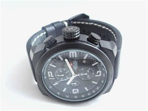 Asli Murah Jam Tangan Swiss Army Leather Pria Hb1757 Black jual jam tangan murah pakaian