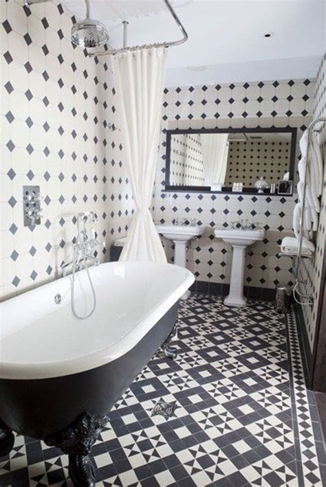 Black White Bathroom Tiles - 27 black and white octagon bathroom tile ideas and pictures