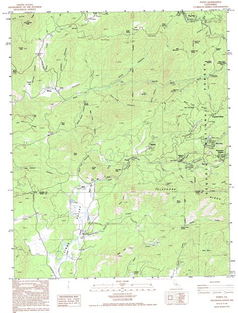 usgs topo maps california posey topographic map ca usgs topo 35118g6