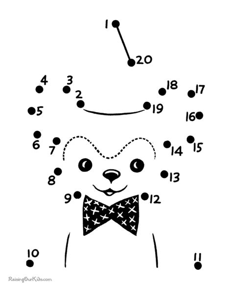 free printable dot to dot groundhog connect the dots page for kids 019