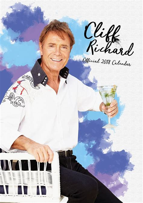 cliff richard back to his vest aged 76 in 2018 calendar daily mail online