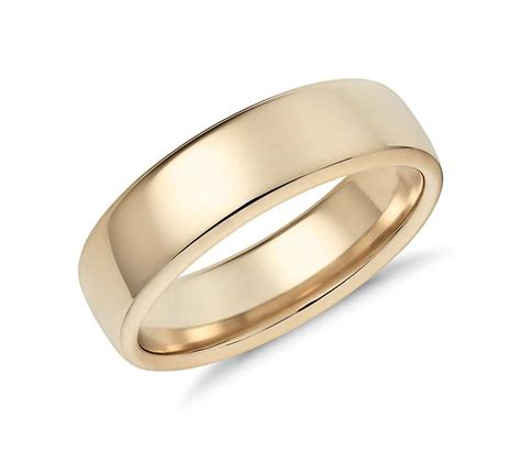comfort rings modern comfort fit wedding ring in 14k yellow gold 6 5mm