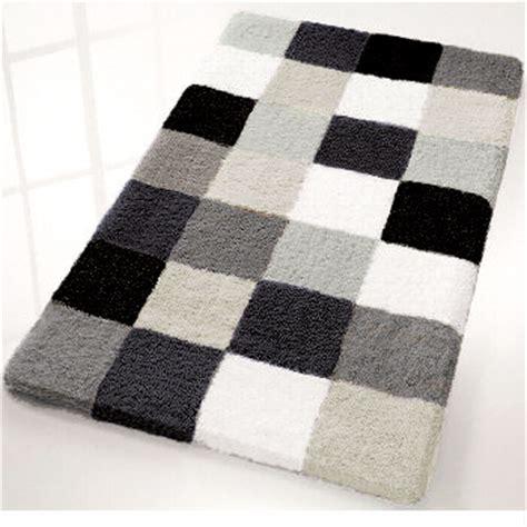 Gray Bathroom Rugs by Caro Checker Pattern Rich Multi Color Plush Bathroom Rug