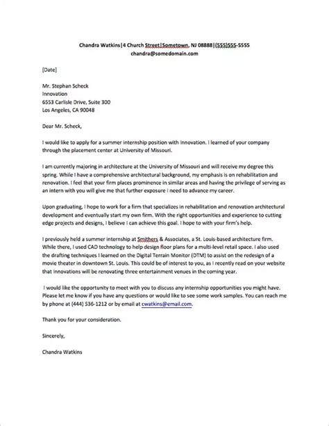 Cover Letter Exles Quora How To Write A Letter Asking For An Internship Quora