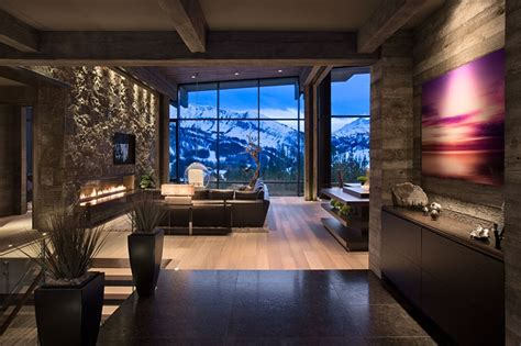 mountain homes interiors world of architecture luxury and elegant mountain home by reid smith architects