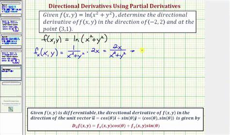 find     directional derivative fxyln