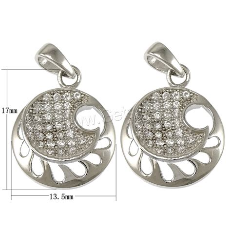 Silver Evil Eye 13 5mm Pendant cubic zirconia micro pave sterling silver pendant 925
