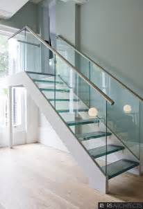 picturesque chrome handrail with glass balustrade
