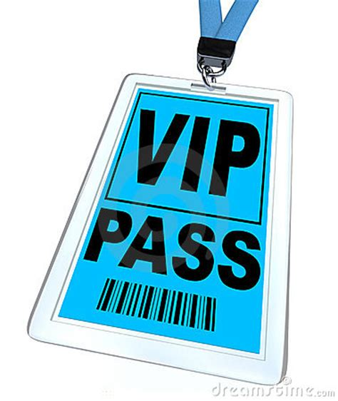 Vip Pass Lanyard And Badge Stock Illustration Image 16243440 Vip Name Tag Template