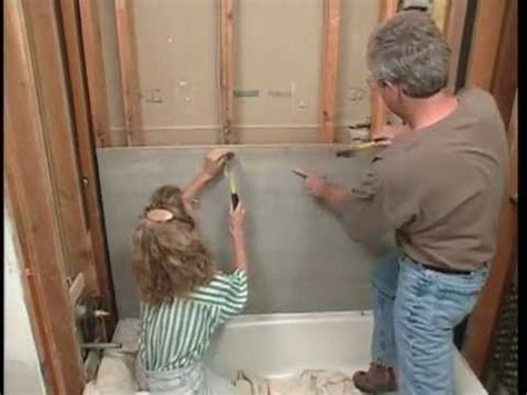 bathtub wall installation fixing tile backer board tile design ideas