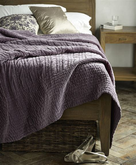 velvet quilt in mulberry from lombok home garden