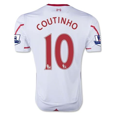 Jersey Liverpool Away 1415 2015 16 liverpool coutinho 10 away soccer jersey liverpool