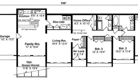 berm house floor plans 14 earth sheltered home floor plans photo house