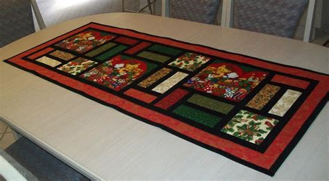 Christmas table runner stained glass by pam yeomans craftsy