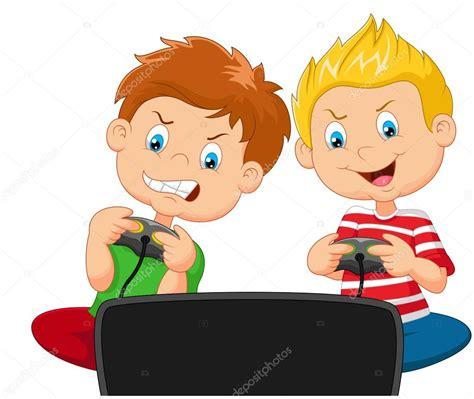 Imagenes De Niños Jugando Videojuegos Animados | los ni 241 os de dibujos animados jugando videojuegos