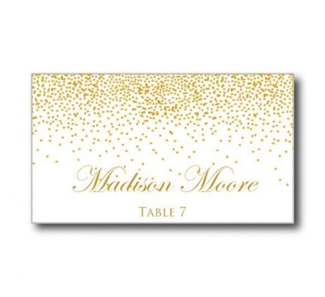 Diy Place Cards Word Template by Printable Wedding Place Cards Gold Wedding Gold