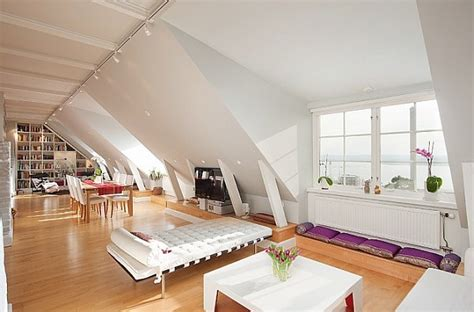 attic area stockholm attic apartment charms with its steep ceilings