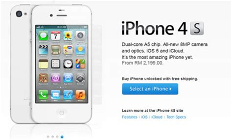 Hp Iphone 4 Di Malaysia unlocked iphone 4s available on apple store malaysia
