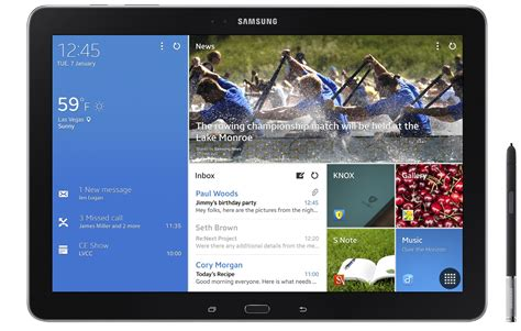 Samsung Tab 12 Inch Ces 2014 Samsung Preempts Rumored Pro With New 12 Inch Galaxy Tablets