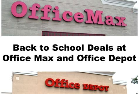 office depot coupons back to school back to school deals at office max and office depot