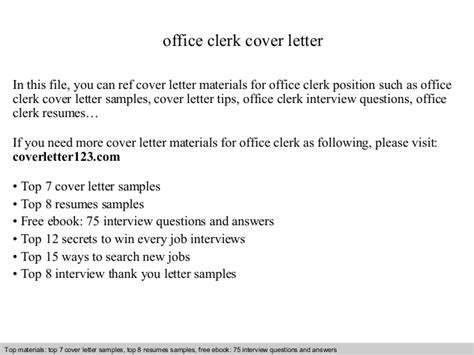 cover letter for junior office clerk office clerk cover letter
