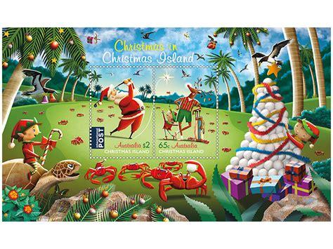 christmas island christmas 2017 minisheet australia post