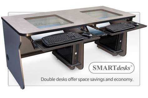 Recessed Monitor Computer Desk Recessed Computer Desk