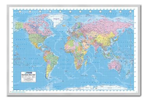 how to hang a map without a frame framed political world map poster ready to hang choice