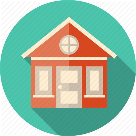 flat design home icon building construction courthouse estate exterior