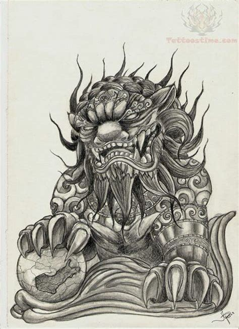 chinese foo dog tattoo designs asian foo tat ideas