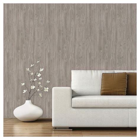 peel and stick wallpaper devine color textured driftwood peel stick wal target