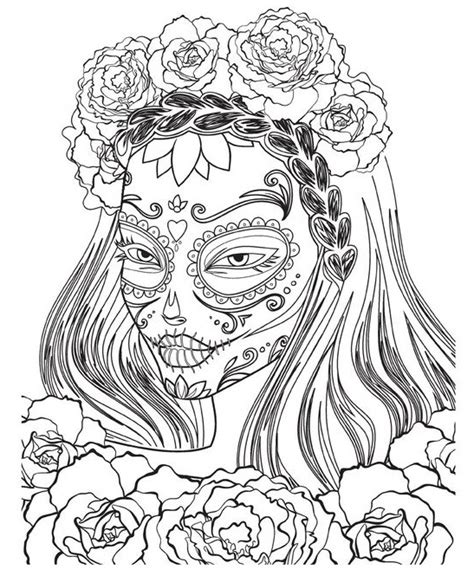 day of the dead face coloring pages droidpiles the technology blog
