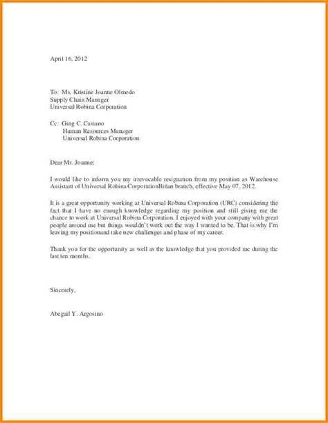 10 Resignation Letter Sample Budget Template Letter Resign