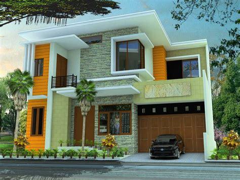 desain dinding depan rumah minimalis pilihan contoh warna cat rumah bagian depan renovasi