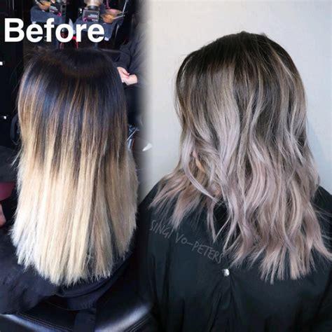 color melt hair technique 20 avant apr 232 s ombr 233 hair balayages une grande
