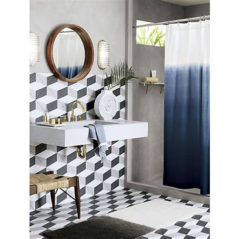mirror shower curtain blue ombre shower curtain decorative mirrors powder