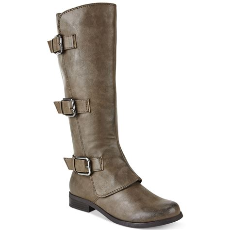 fergie boots lyst fergie fergalicious smith shaft boots in brown