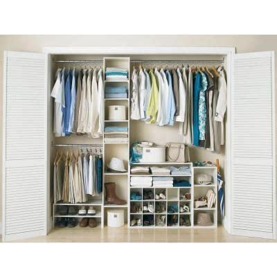 6 shelf 3 rod laminate closet tower organizer in white