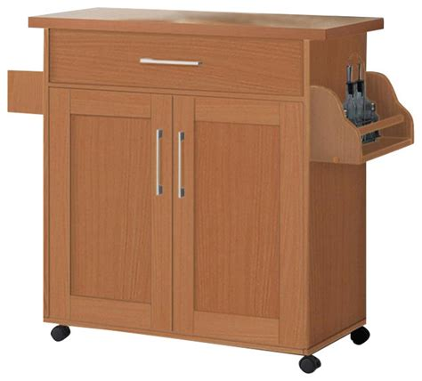 Kitchen Island Microwave Cart Microwave Cart Beech Modern Kitchen Islands And Kitchen Carts By Hodedah Import Inc