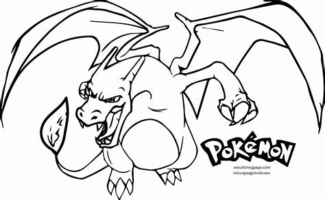 pokemon coloring page charizard coloring home