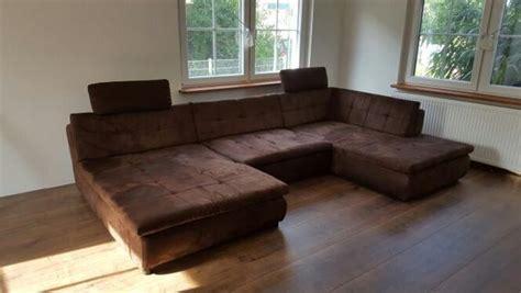 polster otten wohnlandschaft big sofa u form braun xl gro 223 in