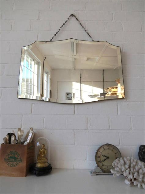 frameless wall mirrors art deco mirrors bathroom mirrors vintage art deco bevelled edge wall mirror frameless