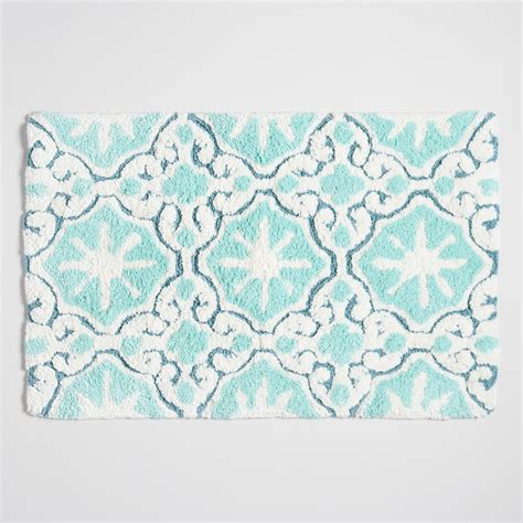 aqua bathroom rugs aqua mist tile bath mat world market