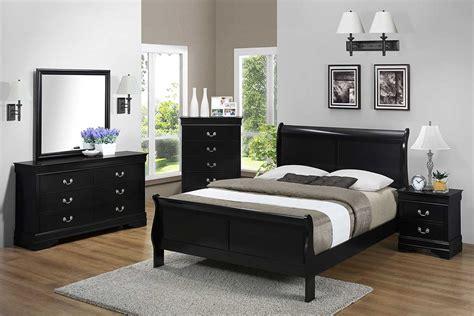 Black Bedroom Set   The Furniture Shack   Discount
