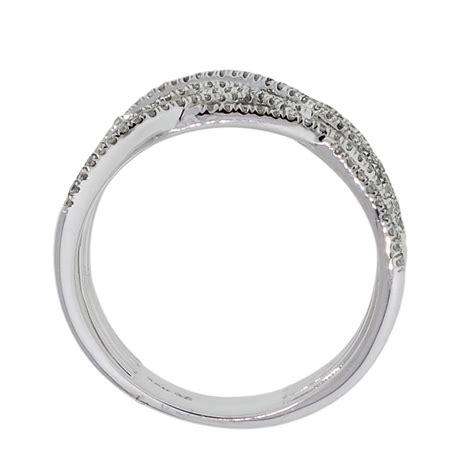 white gold crossover ring 14k ring
