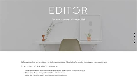 Build Resume Website by How To Build A Resume Website The Muse