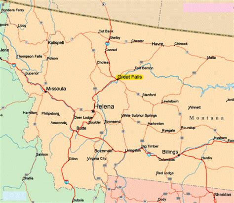 montana in usa map map montana usa bnhspine